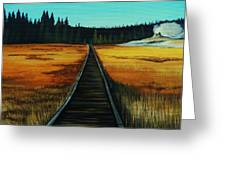 Yellowstone Boardwalk Greeting Card