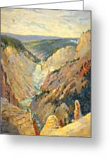 Yellowstone Falls And Hoodoos Greeting Card