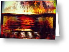 Yellowstone Hell (billirubin Remix) Greeting Card by Artemis Sere