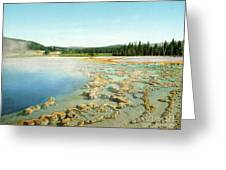 Yellowstone: Hot Spring Greeting Card