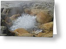 Yellowstone Hot Springs 9499 Greeting Card