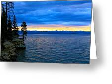 Yellowstone Lake Sunrise Greeting Card