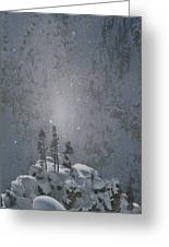Yellowstone National Park, Winter View Greeting Card