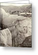 Yellowstone Park: Mammoth Greeting Card