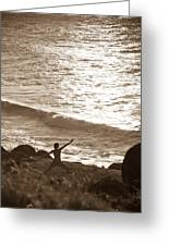 Yoga At Kalalau Greeting Card