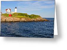 York's Nubble Light Greeting Card by Amy Warnke