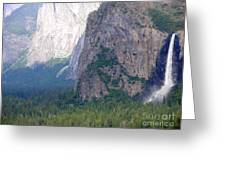 Yosemite Bridal Veil Fall Greeting Card