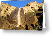 Yosemite Bridal Veil Falls Greeting Card