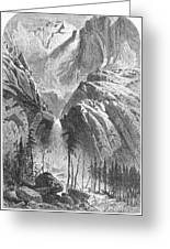 Yosemite Falls, 1874 Greeting Card