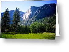 Yosemite Falls From The Ahwahnee Greeting Card