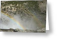 Yosemite Falls Rainbow Greeting Card