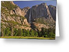 Yosemite Fall's Spring Flow Greeting Card