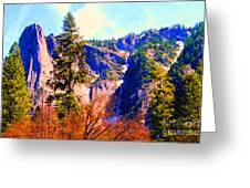 Yosemite In The Fall . 7d6287 Greeting Card by Wingsdomain Art and Photography