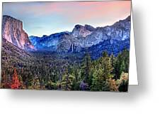 Yosemite Valley From Tunnel Greeting Card