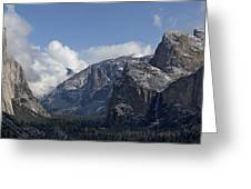 Yosemite Valley Panoramic From Tunnel View Greeting Card