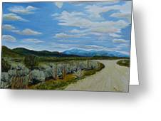 You Take The High Road.... Greeting Card
