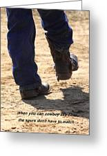 Young Cowboy With Spurs Greeting Card