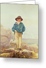 Young England - A Fisher Boy Greeting Card