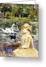 Young Girl Boating Greeting Card by Berthe Morisot