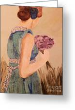 Young Girl Young Woman Greeting Card