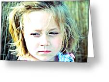 Young Girl's Expression Greeting Card