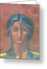 Young Indian Woman Greeting Card