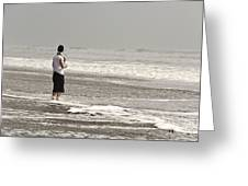 Young Man And The Pacific Ocean Greeting Card