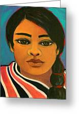 Young Mexican Girl Greeting Card
