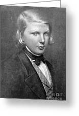 Young Victor Hugo, French Author Greeting Card