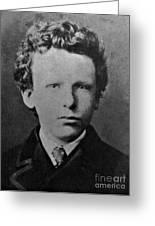 Young Vincent Van Gogh, Dutch Painter Greeting Card