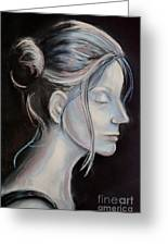 Young Woman In Profile-quick Self Study Greeting Card
