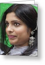Young Woman India Day Parade Nyc 2012 Greeting Card