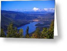 Yukon River In Fall Colors Greeting Card