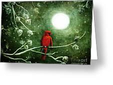 Yuletide Cardinal Greeting Card