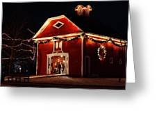 Yuletide Celebration In The Carriage House Greeting Card