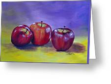 Yummy Apples Greeting Card