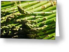 Yummy Asparagus Greeting Card by Connie Cooper-Edwards