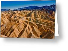 Zabriskie Point Badlands Greeting Card