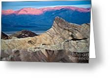Zabriskie Point Dawn Greeting Card by Jim Chamberlain