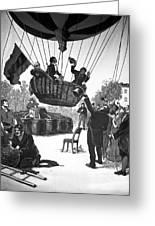 Zakharov's Balloon Flight, 1804 Greeting Card by Ria Novosti