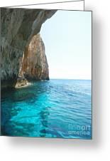 Zakynthos Blue Caves Greeting Card