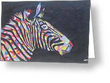 Zebra Greeting Card by Rejeena Niaz