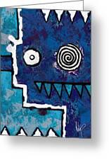 Zeeko - Blue And Aqua Greeting Card