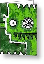 Zeeko - Green Greeting Card