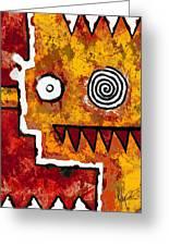 Zeeko - Red And Yellow Greeting Card