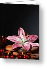 Zen Atmosphere At Spa Salon Greeting Card