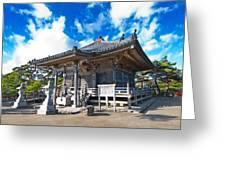 Zen Garden At A Sunny Morning Greeting Card