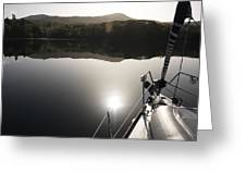 Zen Morning On A Sailing Boat Greeting Card