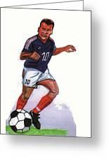 Zinedine Zidane 01 Greeting Card