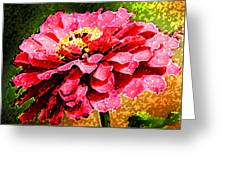Zinnia Blast Greeting Card